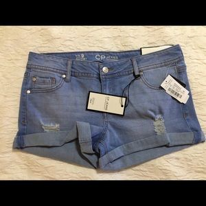 NWT CP Jeans Shorts - denim rolled cuff, size 9
